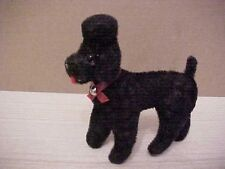 vintage kunstlerschutz west germany black flocked poodle dog animal figurine