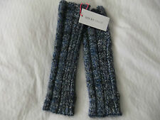 SEE BY CHLOE CHUNKY KNIT BLUE/GREY MARL WRIST /ARM WARMERS/FINGERLESS GLOVES