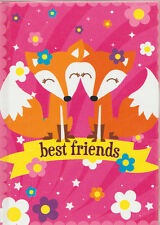 BEST FRIENDS WITH FOXES! 50 PAGES LINED BLANK JOURNAL! NEW! FREE SHIP! PINK!