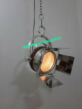 Vintage Home Decor Ceiling  Hanging Light Nautical Pendant Covered Leather Light