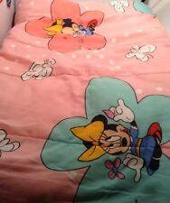 Vtg. Minnie Mouse 3 Pc. Twin Comforter, Pillowcase & Flat Sheet Butterflies