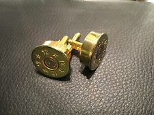 12g shotgun cuff links shell cartridge belt holder case slip bag sling .