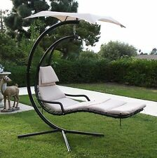 Hanging Helicopter dream Lounger Chair Arc Stand Swing Hammock Chair Canopy tan