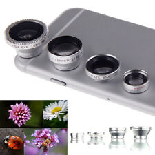 4in1 Fish Eye+Wide Angle Micro Telephoto Lens Camera For iPhone 6 plus 5S Galaxy