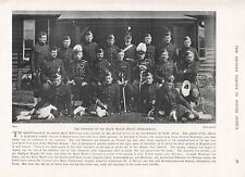 1900 ANTIQUE PRINT-BOER WAR-OFFICERS OF BLACK WATCH (ROYAL  HIGHLANDERS)