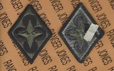 US Army Logistics Center OD Green & Black BDU uniform patch m/e