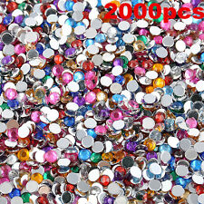 2000pcs 3mm Nail Art Tips DIY Decoration 3D Acrylic Gems Crystal Rhinestones