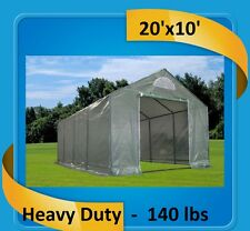 Green Garden House Walk In Greenhouse 20'x10' Triangle - Total Weight 140 Pounds
