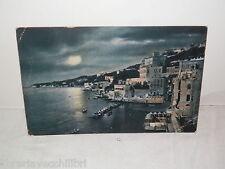 Vecchia cartolina foto d epoca di MARE COSTA NOTTE ARGENTO LUNA NOTTURNO da
