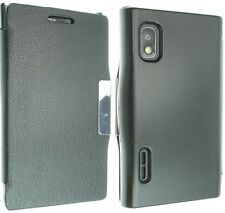 FOR LG L5 OPTIMUS E610 LUXURY LEATHER CASE COVER FLIP POUCH BACK SKIN NEW