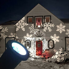 White Snow Moving Laser Landscape Project House Outdoor Decor Xmas Garden Light