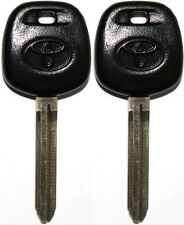 2 NEW TOYOTA UNCUT MASTER TRANSPONDER CHIPPED LOGO KEY BLANK REPLACEMENT KEY 4C
