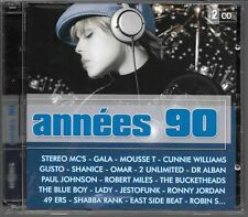 2 CD COMPIL 40 TITRES--ANNEES 90--MILES/GUSTO/LADY/GALA/OMAR/2 UNLIMITED