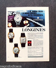 N351 - Advertising Pubblicità - 1968 - LONGINES ALTA FREQUENZA ULTRA CHRON