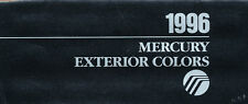 1996 Mercury Exterior Color Paint Car Brochure Guide - Grand Marquis Cougar XR7