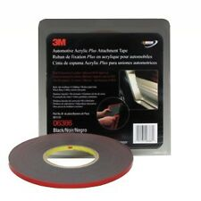 "3M 06386 Automotive Acrylic Plus Attachment Tape, 6386 Black 1/4""x20 Yds--45 mil"