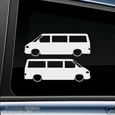 (915) Fun Sticker Adhesivo 2x low and slow VW t4 Transporter StickerBomb