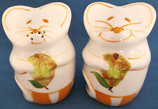 LAURIE GATES MICE MOUSE PEARS SALT & PEPPER POTS SHAKERS CRUET COUNTRY KITCHEN