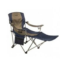 Folding Camp Chair Camping Footrest Heavy Duty Outdoor Lounge High Back Portable