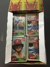1981 Topps Coca Cola Phillies 48 pack Cello Pack box stars on top