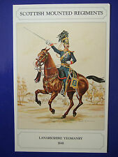 MILITARY POSTCARD-LANARKSHIRE YEOMANRY 1848 BY  DOUGLAS N ANDERSON