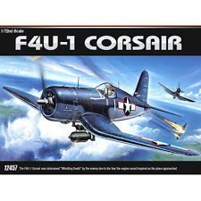Academy 1/72 F4U-1 CORSAIR Whistling Death Plastic Model Kit Airplanes #12457
