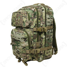 Laser Cut MULTITARN CAMO Molle RUCKSACK 36L Large Assault Pack BACKPACK Army