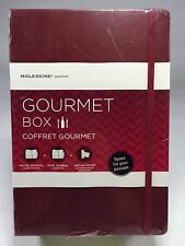 NEW Moleskine Gourmet Box, Wine & Recipe Journal, Tasting Notes,  Burgundy NIP