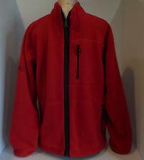 RAPLH LAUREN POLO Mens Zip Front Fleece Jacket Sweatshirt Coat Red Medium Large