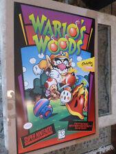 """Super Nintendo Wario Woods SNES NES Video Game Poster Mario Huge 24"""" 36"""""""