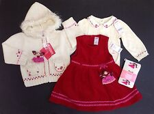 NWT Gymboree Peruvian Doll 18-24 Dolly Jumper Dress Sweater Bodysuit & Tights