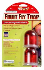 NEW RESCUE FFTR2 PACK OF (2) REUSEABLE NON TOXIC FRUIT INSECT FLY TRAPS 9034505