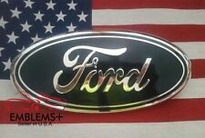 "2004-2014 FORD TAILGATE OR GRILLE 9"" EMBLEM FACTORY BLUE 3D WITH ALIGNMENT POST"