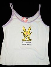 NEW Happy Bunny Its cute how stupid you are Junior Ladies Tank Top LARGE