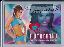 2005 Benchwarmer JENNIFER WALCOTT Auto Bikini Swatch 17/25