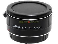 Canon AF moltiplicatore di focale 2x Sakar MC innesto EF x EOS. Garanzia 12 mesi