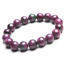 Natural Ruby Zoisite More Red Gemstone Beads Woman Bracelet AAA 11mm