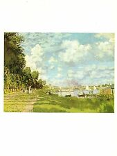 "1977 Vintage IMPRESSIONISM ""THE BASIN AT ARGENTEUIL"" by MONET COLOR Lithograph"