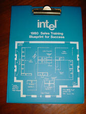 "Intel Vintage 8086 8085 IC 1980 Sales Training  Handout ""Blueprint for Success"""