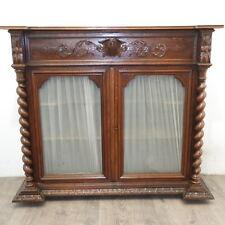 credenza - vetrina Luigi Filippo 1870 in rovere massello francese