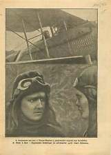 WWI Capitaine Georges Marie Ludovic Jules Guynemer  SPAD XIII  1917 ILLUSTRATION