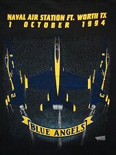 Vintage Naval Air Station Ft. Worth 1994 90's Carswell AFB Blue Angels T Shirt L