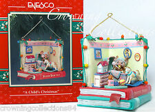 Enesco A Child's Christmas Mice Ornament Baby Nursery Treasury of Lustre Fame