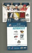 2009-10 SP GAME USED FIVE 5 FABRICS PATCH OVECHKIN LECAVALIER STAAL KOVALCHUK /7