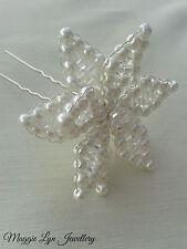 Fiore Per Capelli Da Sposa Accessorio Pin, fatto a mano con cristalli Swarovski e perle UK
