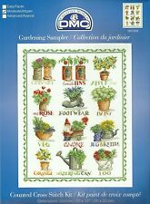 DMC GARDENING SAMPLER FLOWERS COUNTED CROSS STITCH KIT 25x33cm BK1459 - NEW