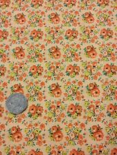 More Antique Treasures 100 % Cotton fabric Quilting Craft Floral Apricot Orange