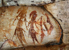 Encadrée imprimer-australian aboriginal bradshaw rock cave painting (photo art)