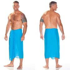 1 World Sarongs Mens Solid Turquoise Mens Solid Sarong Wrap Lava Lava Sulu Toga