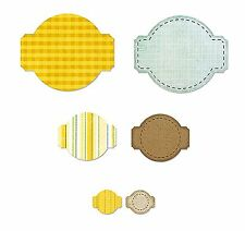 Sizzix Framelits Stitched Circle & Labels set #658789 Retail $19.99